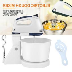 220V 7 Speed Stand Mixer Cake Food Mixing Bowl Beater Dough