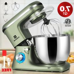 7QT Tilt-Head Food Stand Mixer Stainless Steel Bowl Electric