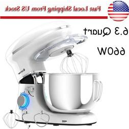 Electric Food Stand Mixer Tilt-Head Stainless Steel with Bow