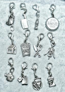 Food Drink Kitchen Clip-on Charms for Backpack Purse Zipper