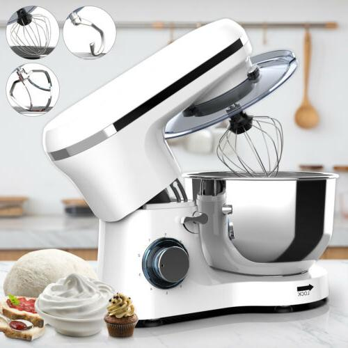 6QT 660W Electric Food Stand Mixer 6 Speed Tilt-Head Stainle