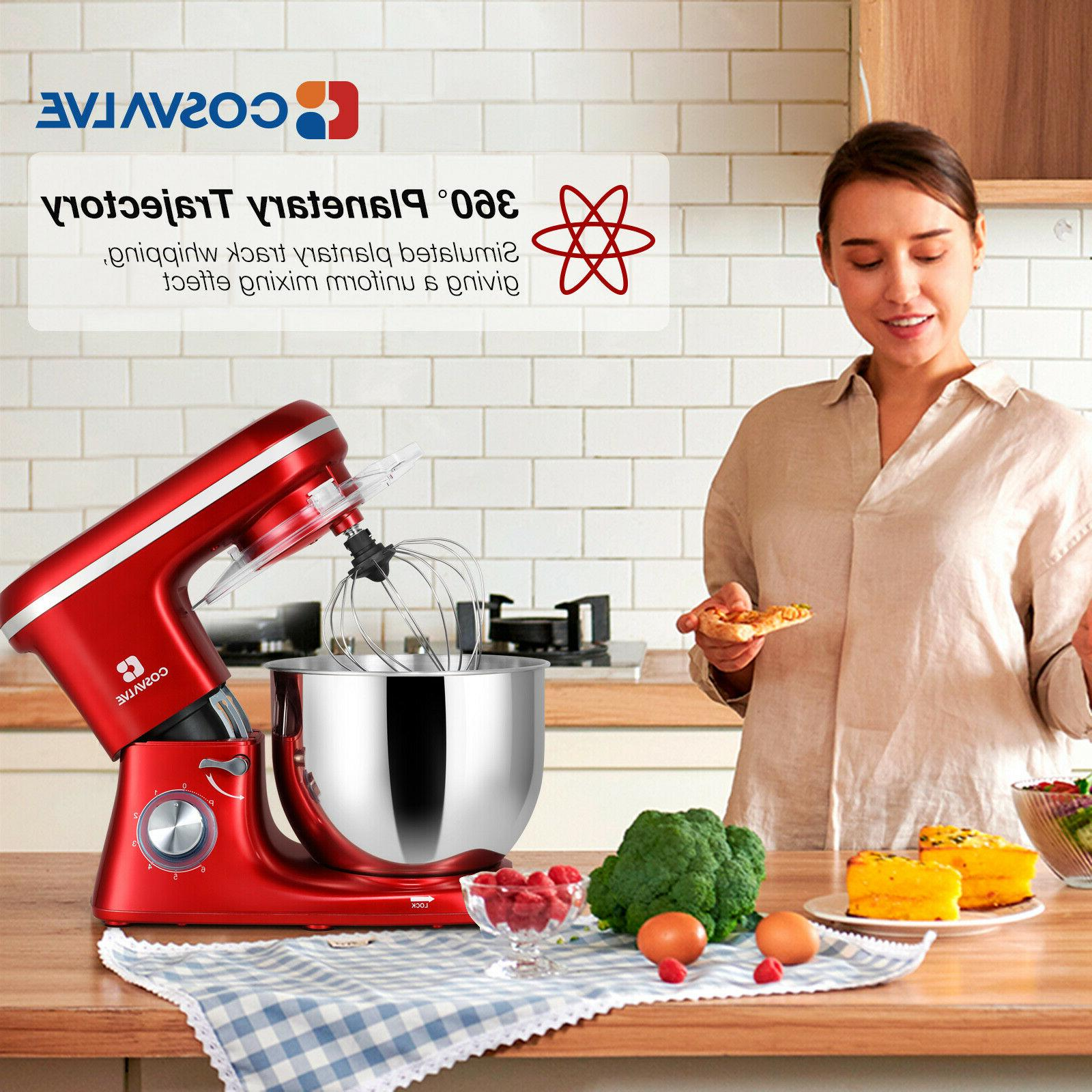 Pro Electric Mixer 7-QT 6-Speed Kitchen Stainless