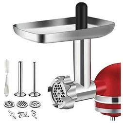 Metal Food Grinder Attachment for KitchenAid Stand Mixers, B