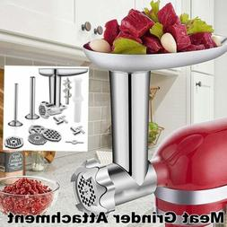 Metal Meat Food Grinder Attachment For KitchenAid Stand Mixe