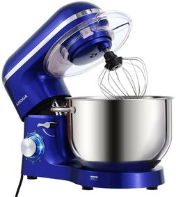 New Royal Blue Electric Stand Mixer, 6.5-QT 660W 6-Speed Til