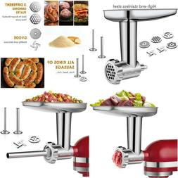 Stainless Steel Food Grinder Attachment Fit Kitchenaid Stand